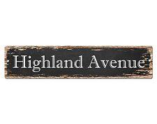 SP0531 HIGHLAND AVENUE Street Sign Home Room Cafe Store Shop Bar Chic Decor Gift