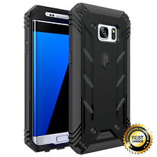 Samsung Galaxy S7 Edge Rugged Hybird Case Poetic Revolution Shockproof Cover BK