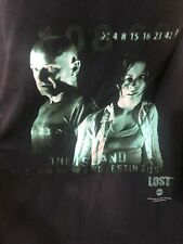 New ListingLost Tv show Promotional T-Shirt w Numbers Evangeline Lilly Terry O'Quinn Rare!