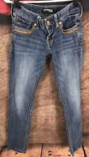 Express Womens Stella Regular Fit Low Rise Ankle Jeans 00 25x27 C10