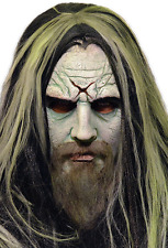 Halloween ROB ZOMBIE WITH BEARD AND WIG ADULT LATEX DELUXE MASK NEW