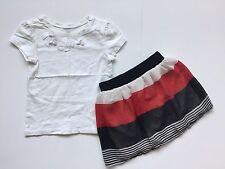 Children's Place Sz 4t Outfit Rachael Chloe Kids Stripe Skirt White Shirt Girls