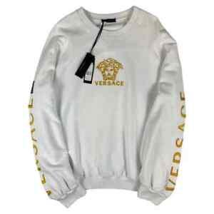 NWT Versace Men's White Long Sleeved Medusa Sweatshirt Size XL