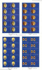 VATIKAN VATICANO - 2001 GOLDEXPONATE ETRUSK MUSEUM 1386-89 KLEINBOGEN gestempelt