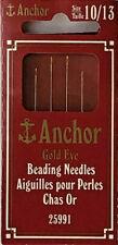 Anchor - Gold Eye Beading Needles - 4pcs - Size 10/13