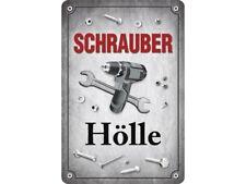 Schrauberhölle Schrauber Hölle Blechschild Schild gewölbt Tin Sign 20 x 30 cm