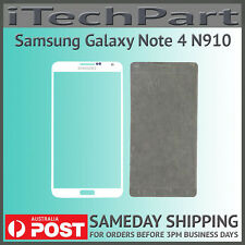 WHITE LCD Screen Lens Glass Replacement For Samsung Galaxy Note 4 N910