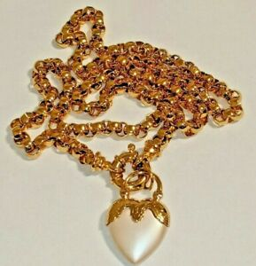 JOAN RIVERS HEART CHARM NECKLACE SIGNED