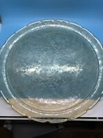 Indiana Tiara Light Amber Sandwich Glass Relish Plate Serving Platter