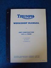 TRIUMPH GENUINE WORKSHOP MANUAL  650 UNIT TWINS  1963-70  TR6 T120