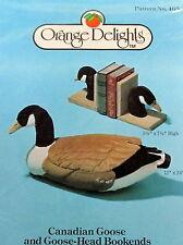 Vtg 80s Orange Delights Soft sculpture Canadian Goose lifesize Pattern decoy