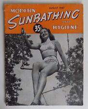 Vintage Modern Sunbathing & Hygiene Nudist Nudism Naturalist Magazine Aug 1947
