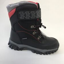 New Storm By Cougar Boys Winter Boots SZ 6 M Black/ Red
