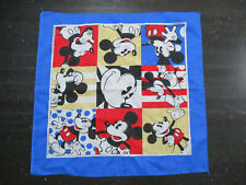 VINTAGE Mickey Mouse Bandana Handkerchief Yellow Blue Walt Disney World 90s