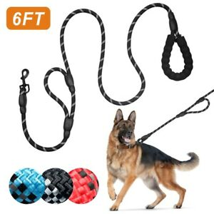 Dog Leash Lead Rope Pet Leads Strong Soft for Medium Large Dogs 6FT Leads