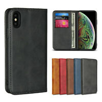 For Apple iPhone X Xr Xs Max Luxury Magnetic Leather Wallet Flip Case Cover