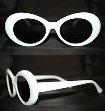 Sonnenbrille Nirvana Kurt Cobain Stil Oval Weiß Schwarz Unisex fab313A
