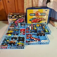 LOT VINTAGE MATCHBOX & HOT WHEELS toy die cast cars Dump Truck Cases Corvettes &