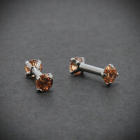 Pair 16G CZ Steel Barbell Ear Tragus Cartilage Helix Stud Earrings Piercing Gift