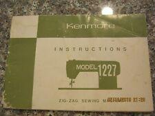 Sears Kenmore zig-zag sewing machine model 1227 instruction manual free shipping