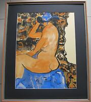 Lola Cullen~Australian Artist~Collectable Original Painting~Naked Figure~1979