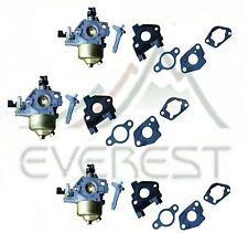 NEW 3 PACK CARBURETOR FITS GX240 8HP HONDA ADJUSTABLE FREE GASKETS & INSULATOR