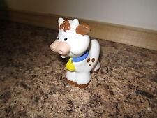 Fisher Price Little People Farm Barn animal pet Stable cow bovine heifer white