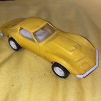 Vintage RARE 1970s Yellow Tonka Toys Corvette Stingray From Transporter Set