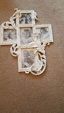 Beautiful multi framed art nouveau style picture frame. Excellent ornate carving
