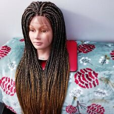 Fully Hand Braided (Box Braids) Lace Front Wig Color 1b/27 Ombre