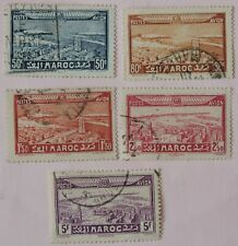 1933 part set 5 of 6 airmails French Morocco  used  CV £8+