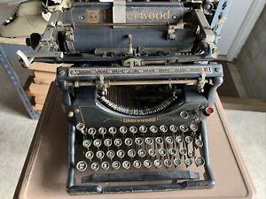 Underwood Typewriter No. 5 Vintage Antique Early 1920's Standard Typewriter