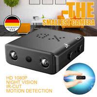 Mini Spion Versteckt Kamera Überwachungkamera Nachtsicht Spycam DVR 1080P HD Top