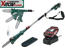 Parkside 20V Cordless Pole Pruner Heavy Duty Telescopic Long Reach Saw Up to 4m.