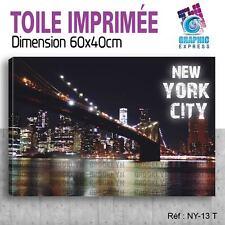 60x40cm - TOILE IMPRIMÉE - TABLEAU MODERNE DECORATION MURALE - NEW YORK - NY-13T