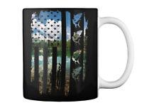 Fishing America Flag Gift Coffee Mug