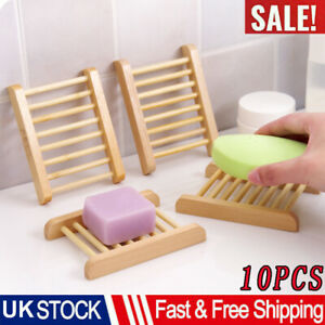 Recyclable Wooden Natural Bamboo Soap Dishes Tray Holder Bathroom Accessories