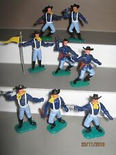 Timpo cavalry on foot 1st series full set of 8 in all 8 poses v/g condition 60's