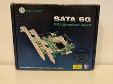 IOCREST 4 Port Sata III PCIe 2.0 x1 Controller Card Marvell 9215 4S Non-Raid
