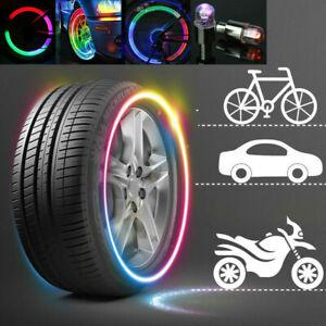 4x RGB LED Tyre Tire Air Valve Caps Bike Car Wheel Stem Cap Light Lamp Bulbs