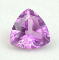6.08ct Unheated Pink SAPPHIRE 10MM Trillion Cut AAA COLOR LOOSE GEMSTONE