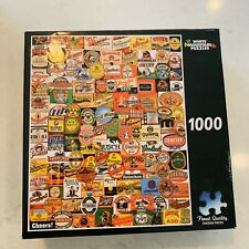 """White Mountain Cheers Beer Label Jigsaw Puzzle 1000 Pieces 24"""" x 30"""" #861T"""