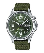 Casio Nylon Band Stainless Steel Case Adult Wristwatches