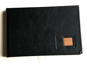 Black Faux Leather Photo Album, 4 x 6inch (10 x 15cm) Photos, 36 Photo Capacity.