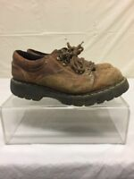 Dr Martens Mens Brown Leather Ankle Boots Sz 8 DISTRESSED