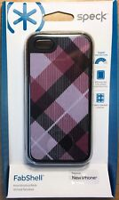 New Speck FabShell for iPhone 5/5S, Megaplaid Mulberry/Black, SPK-A0762
