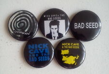 "5 x Nick Cave and Bad Seeds 1"" Pin Button Badges ( music seed grinderman )"