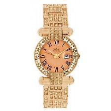 Softech Mujer Metal Oro Rosa con Esfera Diamante Reloj Analógico De Cuarzo