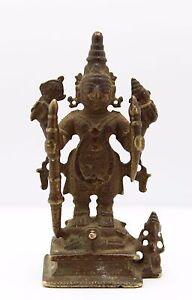 antique 10th 13th C. Indo Javanese / Indian bronze Hindu Deity God Vishnu statue