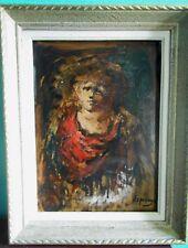 Henri Espinouze portrait huile/panneau signée encadrée côté artprice